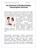An Overview of Endocrinology Transcription Services