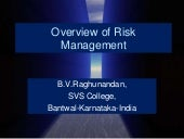 An overview of risk management b.v....