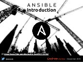 Ansible introduction - XX Betabeers Galicia