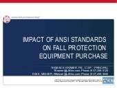 Impact of ANSI Standards on Fall Pr...