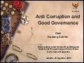Anti Corruption and Good Governance