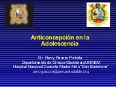 Anticoncepcion en la adolescencia