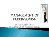 MANAGEMENT OF PARKINSONISM BY Dr.HA...