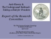 Anti Slavery & UGRR Research Co...