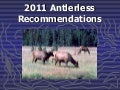 2011 Antlerless Recommendations, May 4, 2011