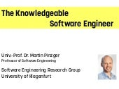 The Knowledgeable Software Engineer