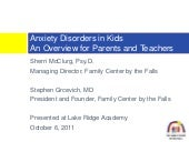 Anxiety Disorders in Kids...An Over...