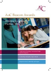 AoC Beacon Awards 2012/13 Winning College Profiles
