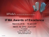 IFMA's Awards of Excellence 2010 We...