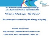 Women led philanthropy