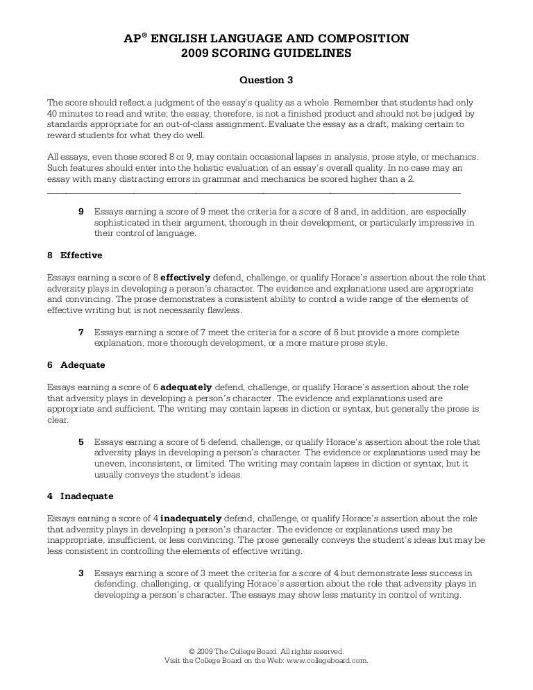 ap lang sample essays