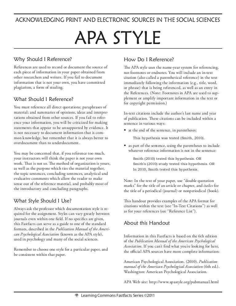 sample case study paper apa format