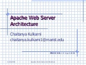 Apache Web Server Architecture Chai...