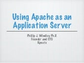 Using Apache as an Application Server