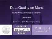 Data Quality on Mars - ISO 80000 and other Standards - Apache Big Data Europe 2015