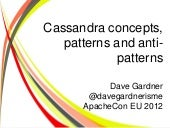 Cassandra concepts, patterns and an...