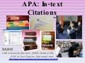 APA: In-text Citations