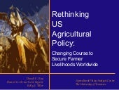 Rethinking US Agricultural Policy: ...