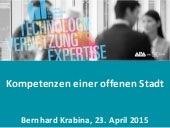 Kompetenzen in der offenen Stadt - Digital Business Trends 2015