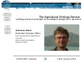The Agricultural Ontology Service: ...