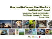 Planning for Sustainability: 2009 P...