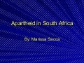 Apartheid In  South  Africa (2)