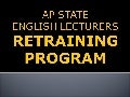 AP ELF English Lecturers Retraining Program