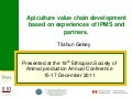 Apiculture value chain development based on experiences of IPMS and partners