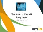 APIdays 2015 - The State of Web API Languages