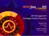 WSO2Con EU 2015: API Management Strategies and Best Practices