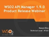 WSO2 Product Release Webinar - WSO2 API Manager 1.9