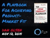 A Playbook for Achieving Product-Market Fit