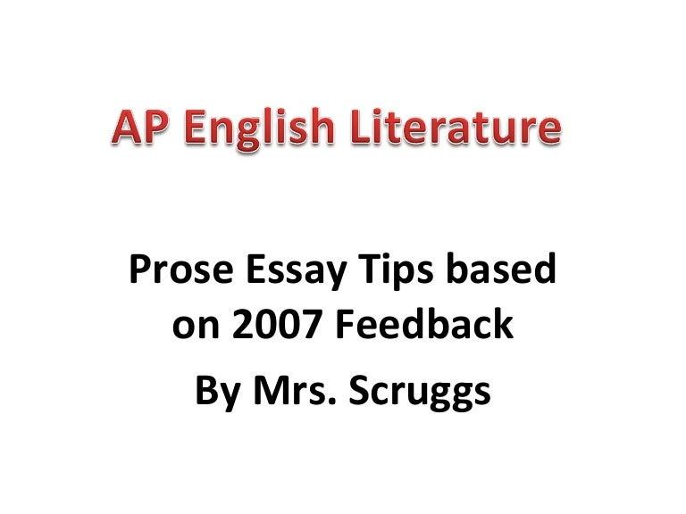 Prose essay