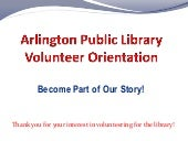 Apl volunteer orientation