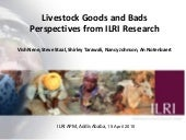 Livestock goods and bads: Perspecti...