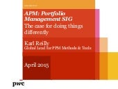 Karl Riley PwC analysis from their 4th global PPM