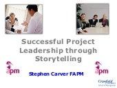 Successful project management through storytelling -12th Jan