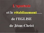 Apostasy and Restoration in French