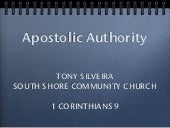 Apostolic Authority