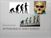 Appearance of early humans