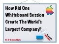 """The World's Most Valuable Whiteboard Session"" by Steve Jobs"