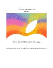 Apple company market research proje...