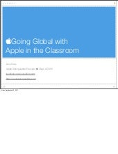 Going Global with Apple in the Clas...