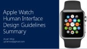Summary of Apple watch human interface design guideline