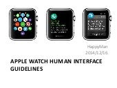 Apple Watch Human Interface Guidelines