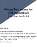 Managing Permissions for Robust Applications