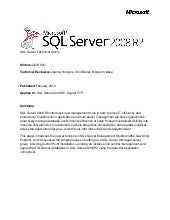 Application andmulti servermanageme...