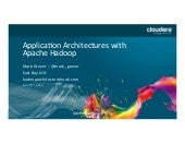 Application architectures with Hadoop and Sessionization in MR
