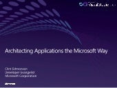 Architecting Applications the Micro...
