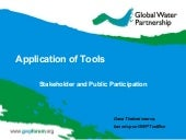 Application of tools. stakeholder a...